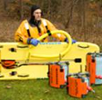IRSS Kit C Ice Rescue Shuttle Sled, 850′ Rope Reel & Cold Water Rescue