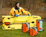 IRSS Kit C Ice Rescue Shuttle Sled, 850' Rope Reel & Cold Water Rescue