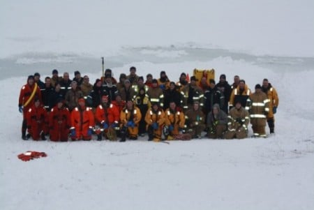 Monclova Fire Dept. Ice Rescue I January 26, 2014 - Great Job Guys!