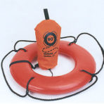 24″ Hard Shell Ring Buoy w/100′ Line