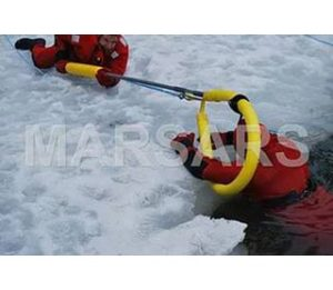 300' Ice Rescue Tether Kit w/Sling, Reach Pole Handle and Bag