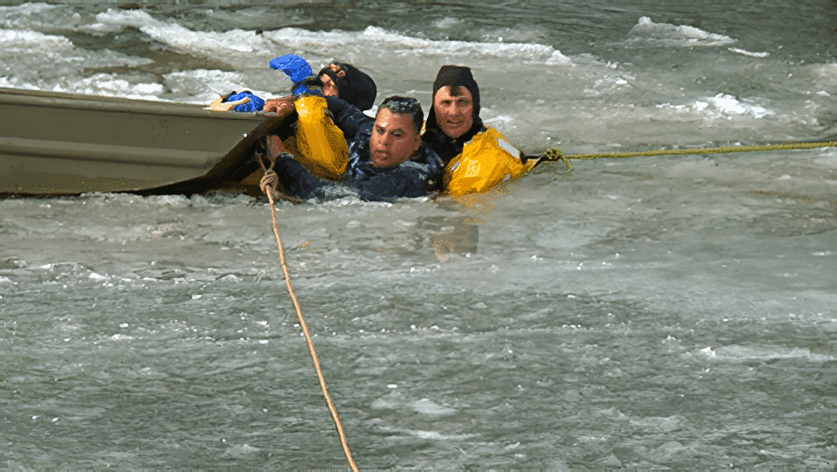 Successful Ice Rescue and Life Saved by Des Moines Fire Department